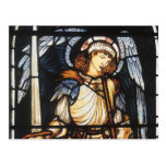 Vintage Archangel, Saint Michael by Burne Jones Post Card
