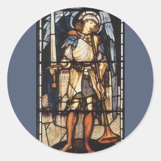 Vintage Archangel, Saint Michael by Burne Jones Stickers