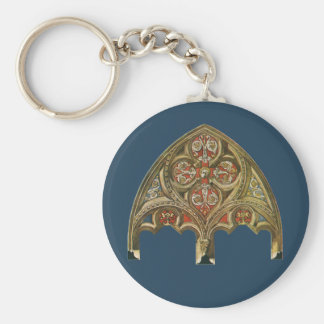 Vintage Architectural Element, Decorative Arches Basic Round Button Key Ring
