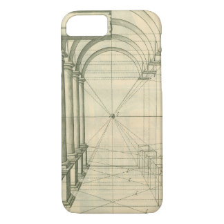 Vintage Architecture, Arches Columns Perspective iPhone 8/7 Case