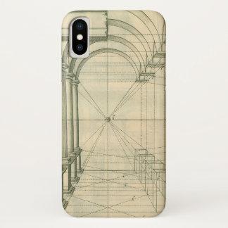 Vintage Architecture, Arches Columns Perspective iPhone X Case