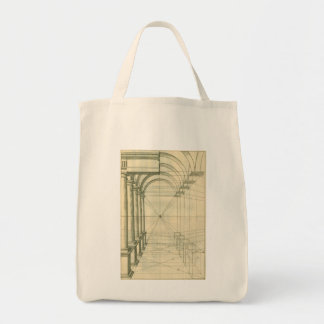Vintage Architecture, Arches Columns Perspective Tote Bag