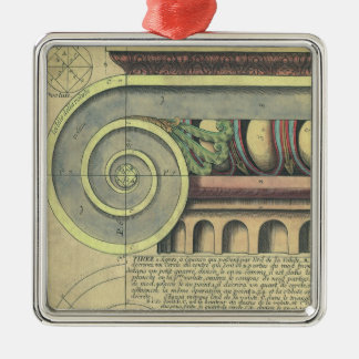 Vintage Architecture; Capital Volute by Vignola Christmas Ornament