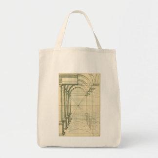 Vintage Architecture, Columns Arches Perspective Tote Bag