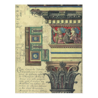 Vintage Architecture, Cornice Moulding and Column Post Card