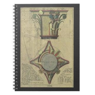 Vintage Architecture, Decorative Capital Crown Note Books