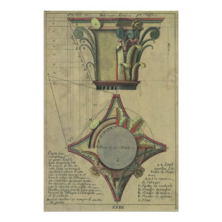 Vintage Architecture, Decorative Capital Crown Poster