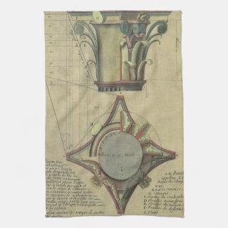 Vintage Architecture, Decorative Capital Crown Tea Towel