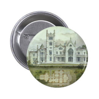 Vintage Architecture, French Chateau Floor Plans 6 Cm Round Badge