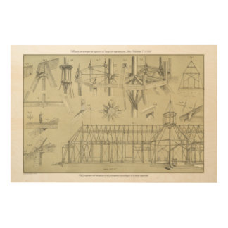 Vintage Architecture Illustration (1859) Wood Print