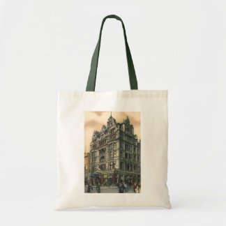 Vintage Architecture Queens Hotel Leicester Square Budget Tote Bag