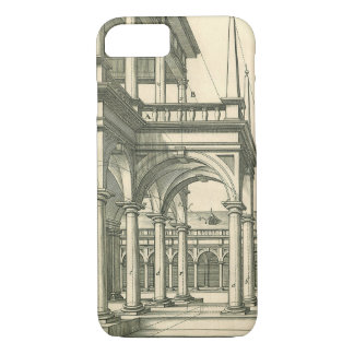Vintage Architecture, Roman Courtyard with Columns iPhone 8/7 Case