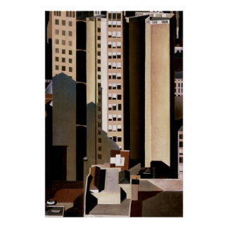 Vintage Architecture, Skyscraper by Sheeler, 1922 Poster