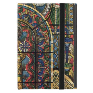 Vintage Architecture, Stained Glass Church Window iPad Mini Cover
