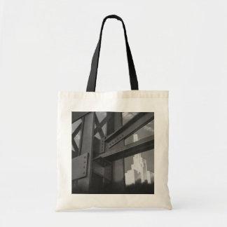 Vintage Architecture Steel Construction Skyscraper Budget Tote Bag