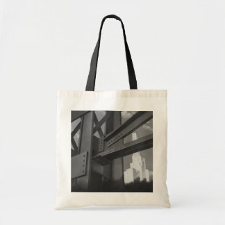 Vintage Architecture Steel Construction Skyscraper Canvas Bag