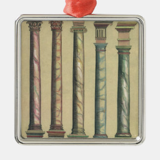 Vintage Architecture, the 5 Architectural Orders Christmas Ornament
