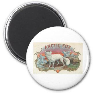 Vintage Arctic Fox 6 Cm Round Magnet