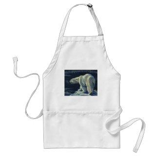 Vintage Arctic Polar Bear, Marine Life Animals Standard Apron