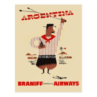 Vintage Argentina Airline Travel Postcard