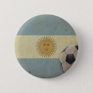 Vintage Argentina Flag 6 Cm Round Badge