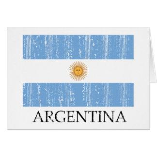Vintage Argentina Flag Card