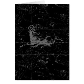 Vintage Aries Sign Constellation Hevelius 1690 Greeting Card