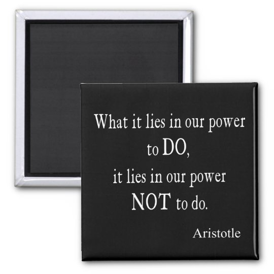 Vintage Aristotle Power Inspirational Quote Magnet