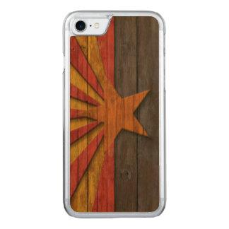 Vintage Arizona Flag Distressed Carved iPhone 8/7 Case
