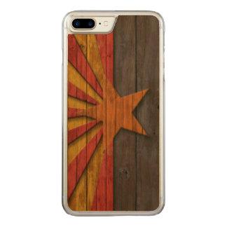Vintage Arizona Flag Distressed Carved iPhone 8 Plus/7 Plus Case