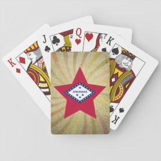 Vintage Arkansan Flag Swirl Card Decks