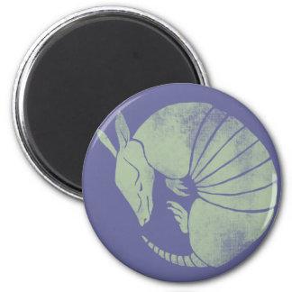 Vintage Armadillo 6 Cm Round Magnet