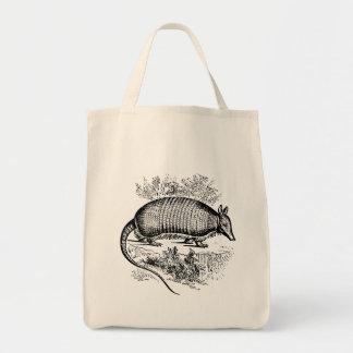 Vintage Armadillo Tote Bag Grocery Tote