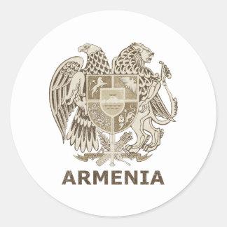 Vintage Armenia Classic Round Sticker