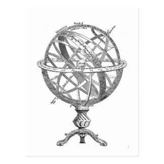 Vintage Armillary Sphere Postcard
