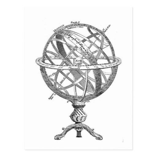 Vintage Armillary Sphere Postcards