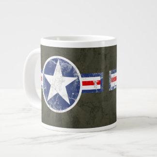 Vintage Army Air Corps Patriotic Star Jumbo Mug