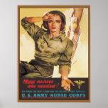 Vintage Army Nurse Corps WW2 Poster