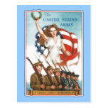 Vintage Army Poster with Lady Liberty Tshirts