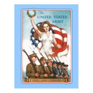 Vintage Army Poster with Lady Liberty Tshirts Postcards
