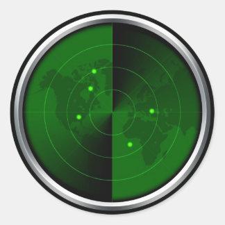 vintage army radar world map detection military round stickers