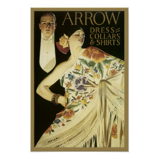 Vintage Arrow Shirt Poster
