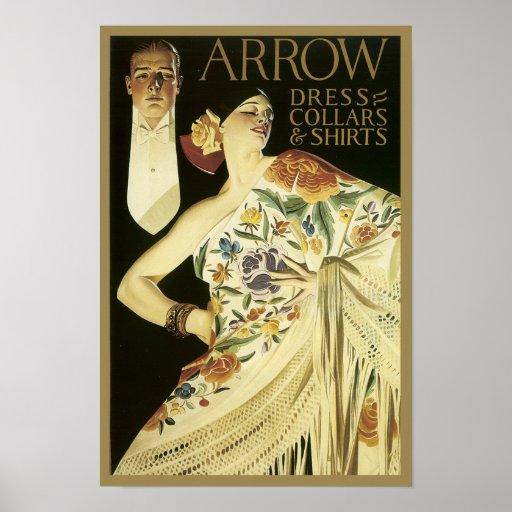 Vintage Arrow Shirt Poster