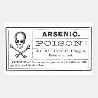 Vintage Arsenic Poison Label Rectangular Sticker