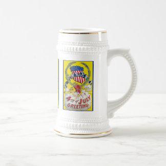 Vintage Art - 4th of July Greeting Coffee Mug