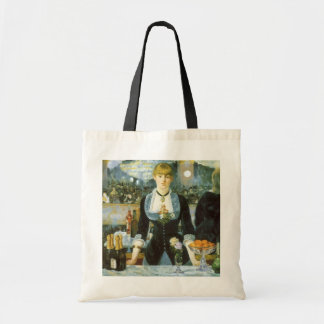 Vintage Art, Bar at the Folies Bergere by Manet Budget Tote Bag