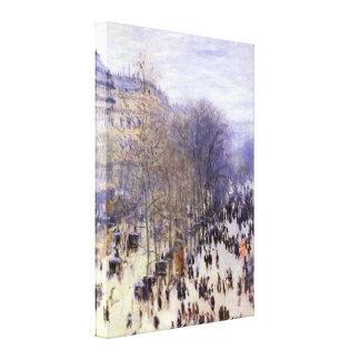 Vintage Art, Boulevard des Capucines by Monet Stretched Canvas Prints