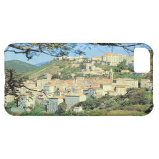 Vintage art, Corsica, Sartene, hilltop town iPhone 5C Covers