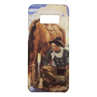 Vintage Art, Cowboy Watering His Horse by NC Wyeth Case-Mate Samsung Galaxy S8 Case