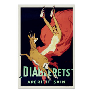 Vintage Art Deco Aperitif Alcohol Drink Poster Posters